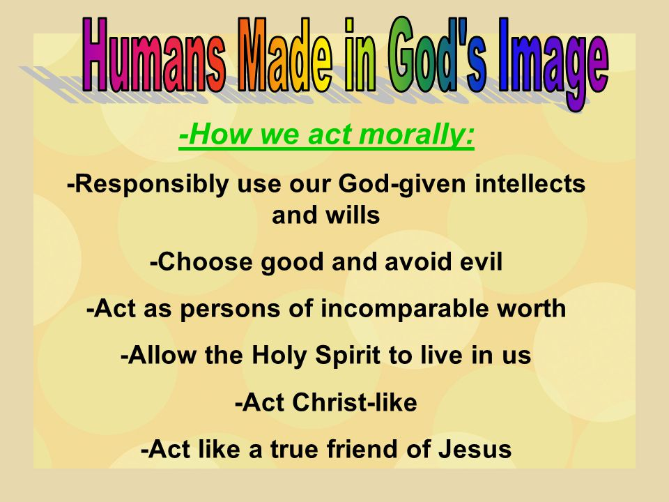 Humans Made in God s Image