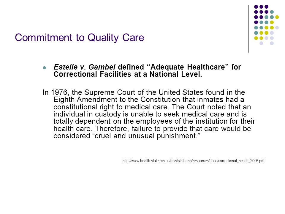 Commitment to Quality Care