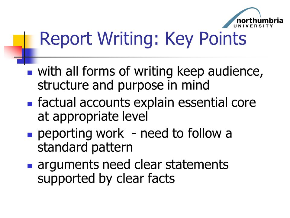 Report Writing: Key Points