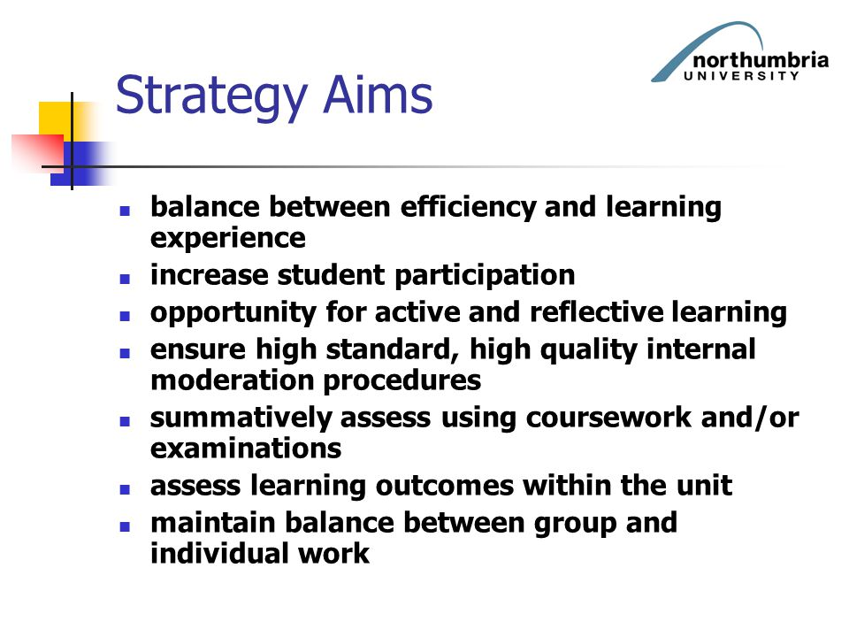 Strategy Aims balance between efficiency and learning experience