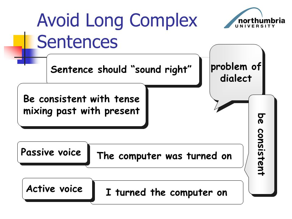 Avoid Long Complex Sentences