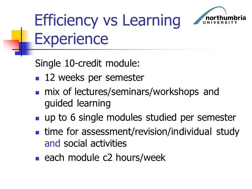 Efficiency vs Learning Experience