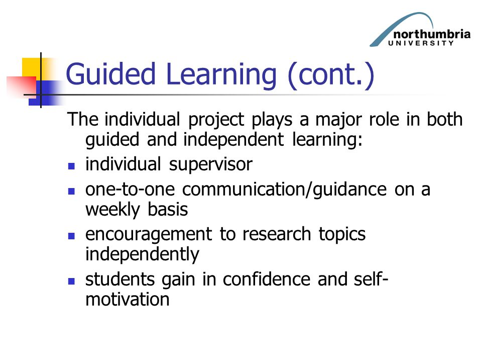 Guided Learning (cont.)