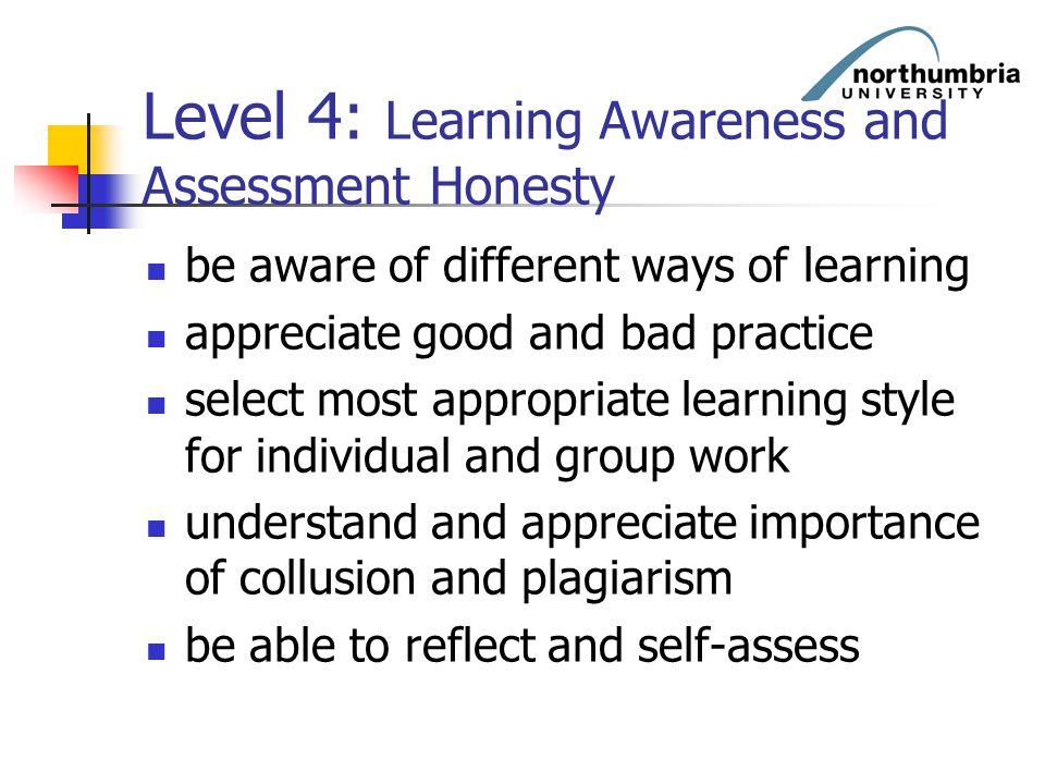 Level 4: Learning Awareness and Assessment Honesty