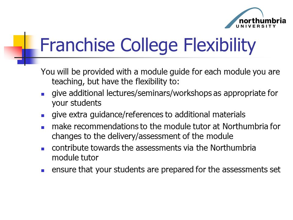 Franchise College Flexibility