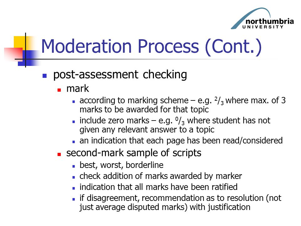 Moderation Process (Cont.)