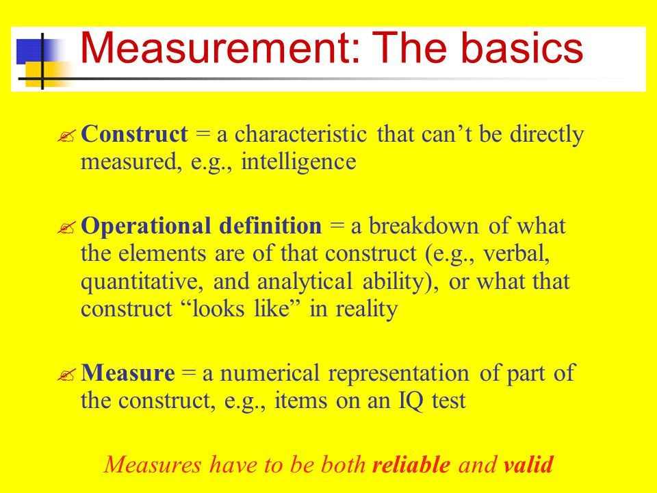 Measurement: The basics
