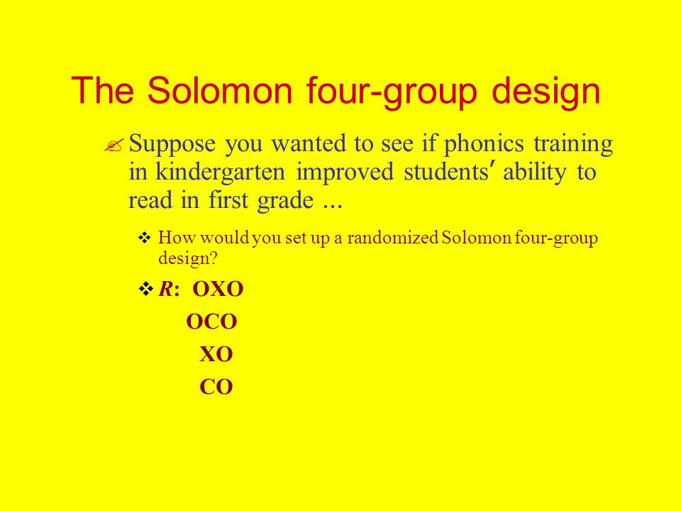 The Solomon four-group design