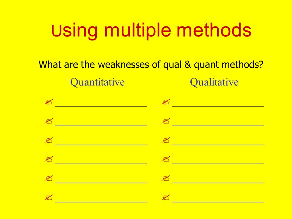 Using multiple methods