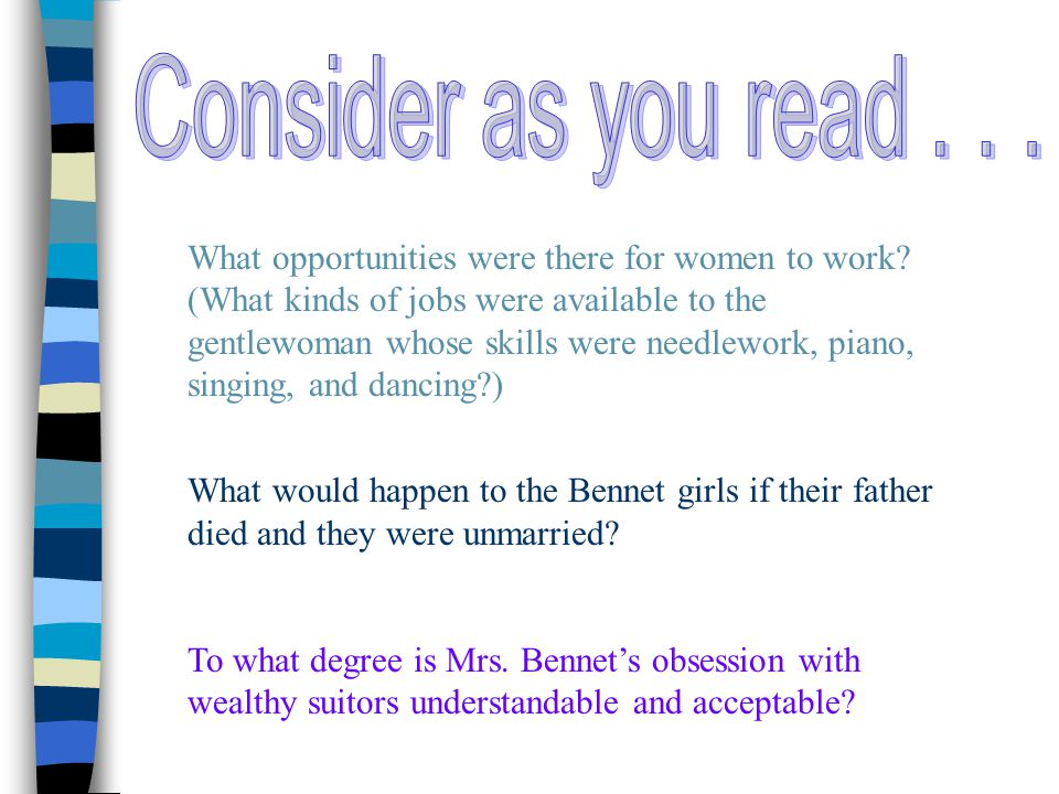 Consider as you read . . .