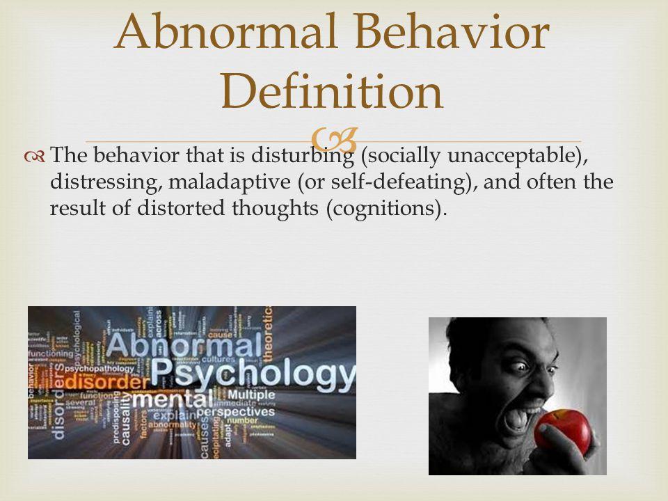 Abnormal Behavior Definition