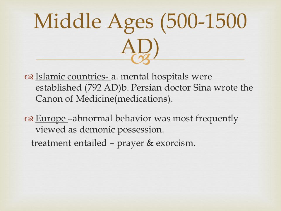 Middle Ages (500-1500 AD)