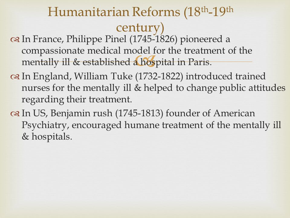 Humanitarian Reforms (18th-19th century)