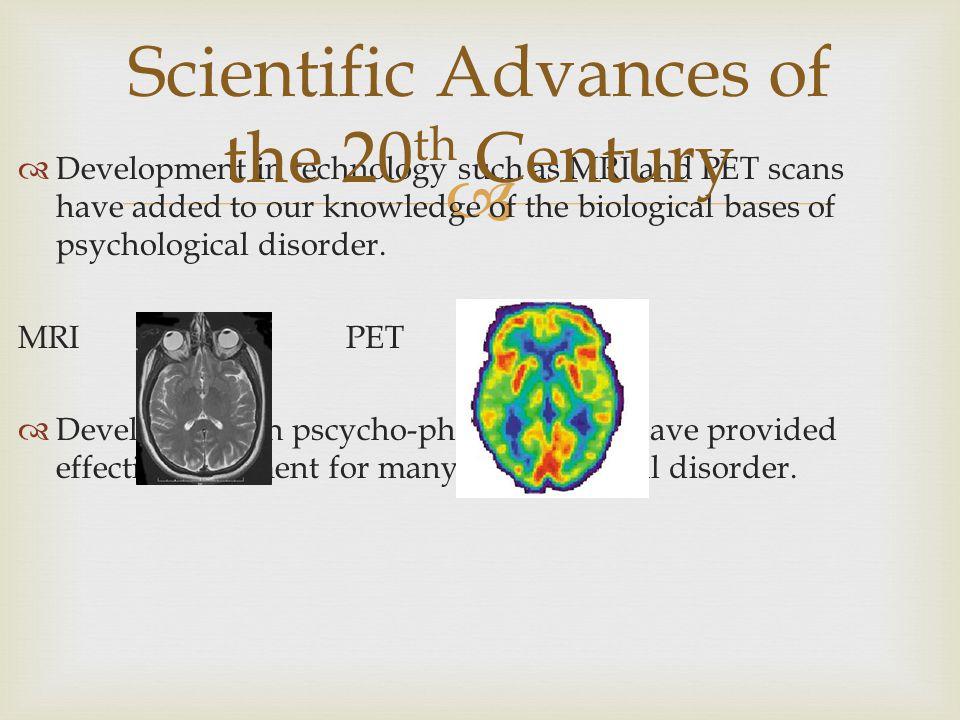 Scientific Advances of the 20th Century