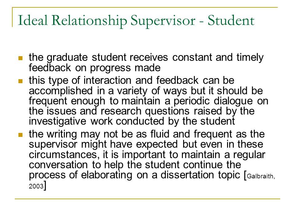 Ideal Relationship Supervisor - Student