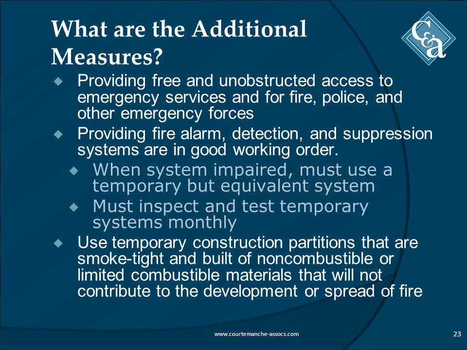 What are the Additional Measures