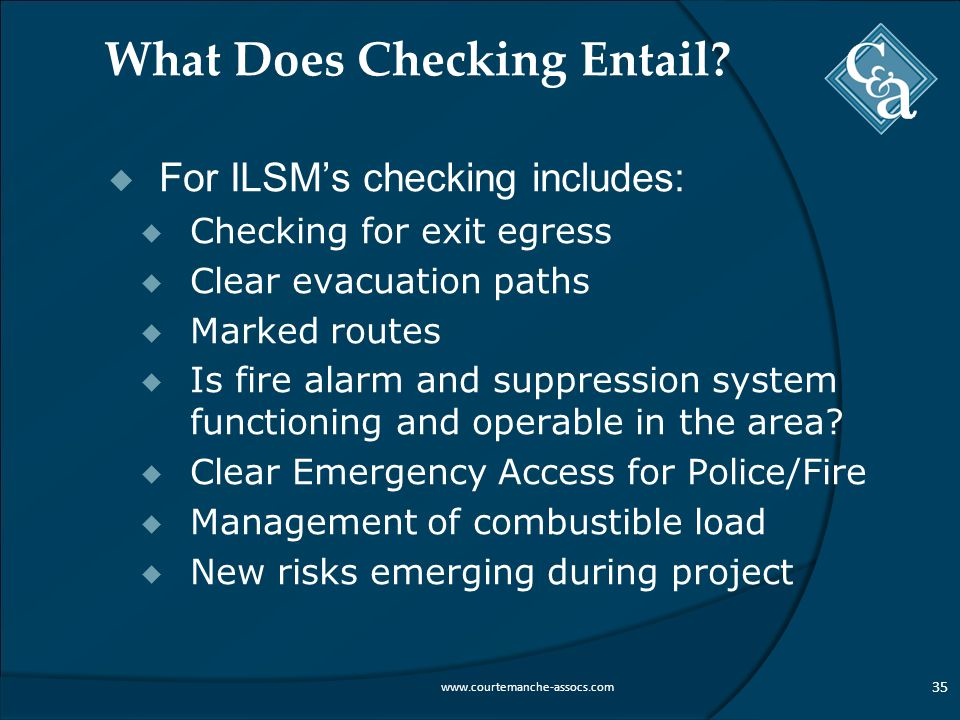 What Does Checking Entail