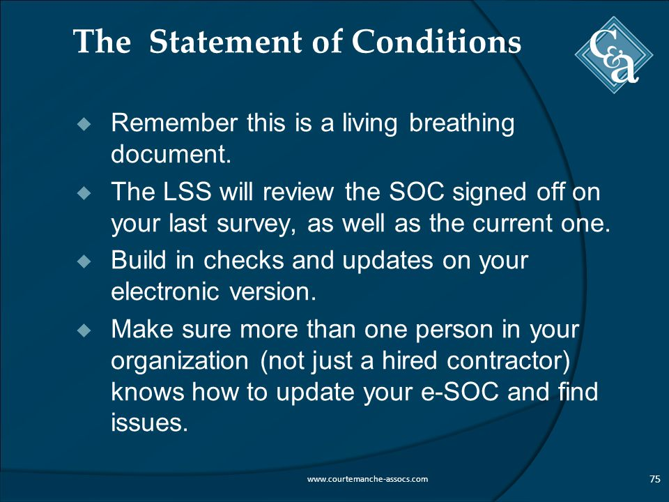 The Statement of Conditions