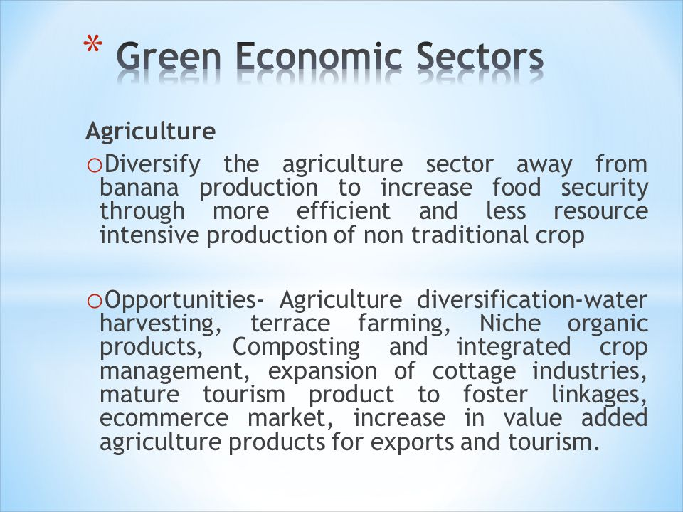 Green Economic Sectors
