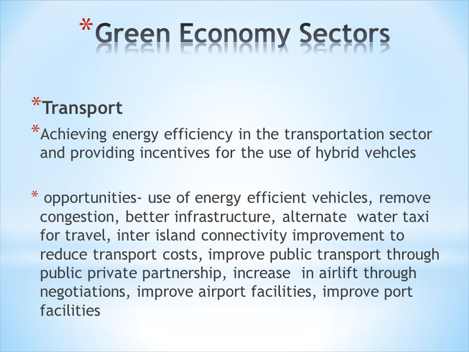 Green Economy Sectors Transport