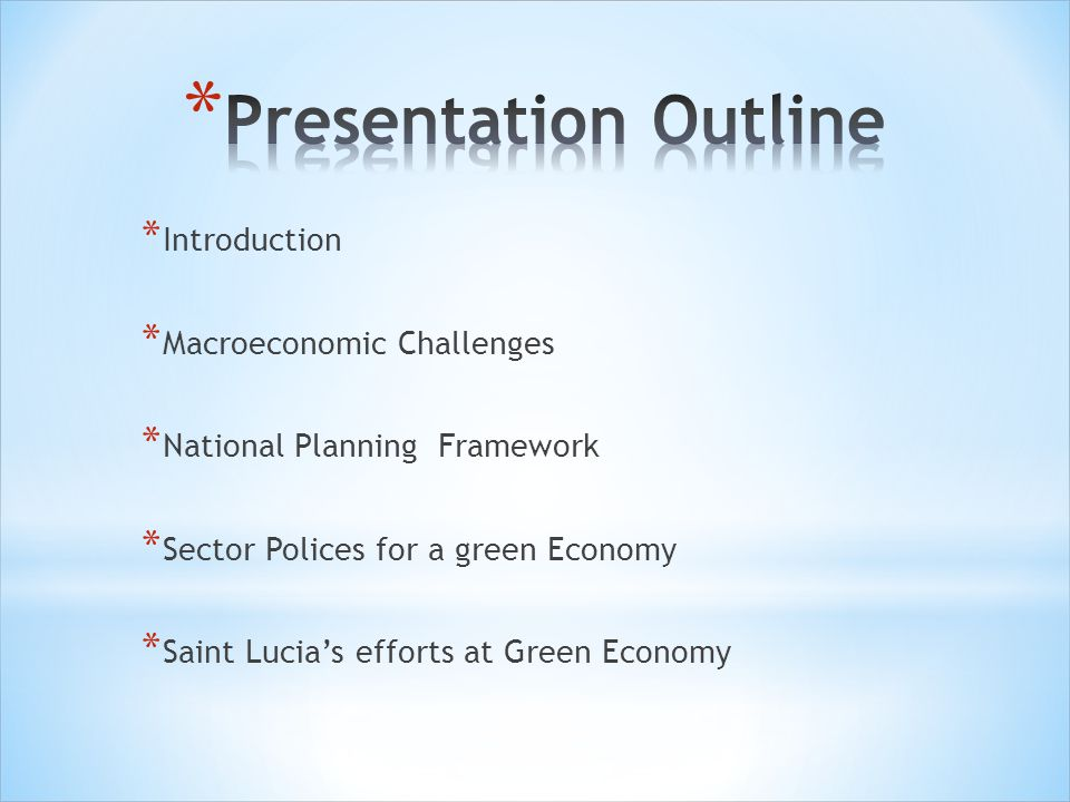 Presentation Outline Introduction Macroeconomic Challenges
