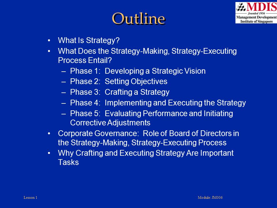 Outline What Is Strategy