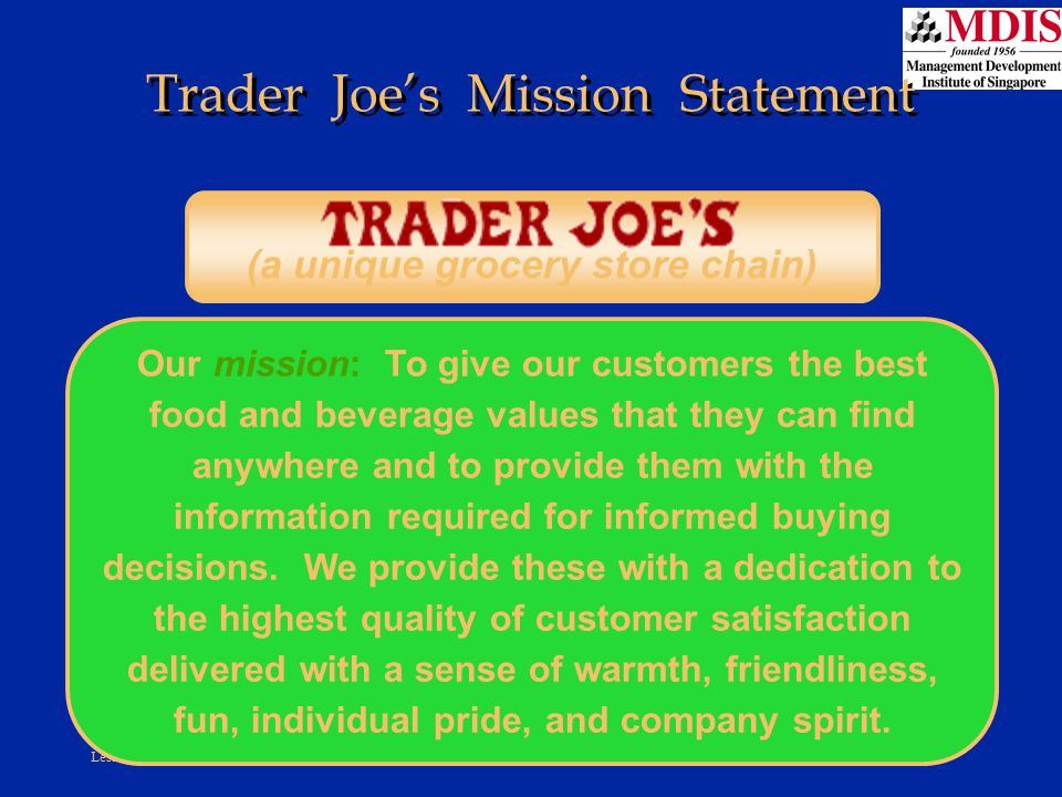 Trader Joe's Mission Statement