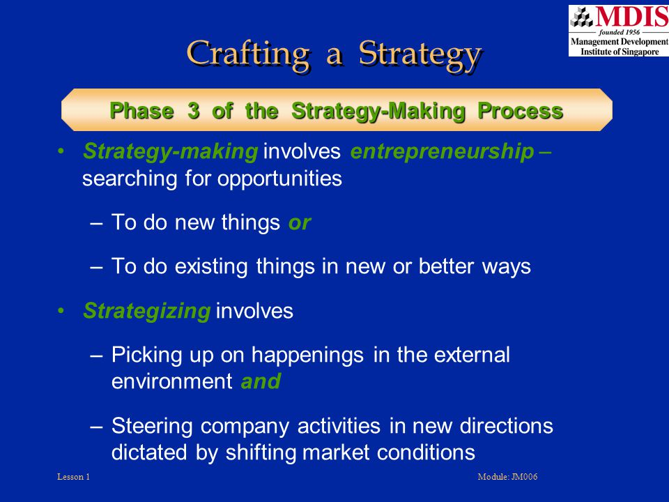 Phase 3 of the Strategy-Making Process