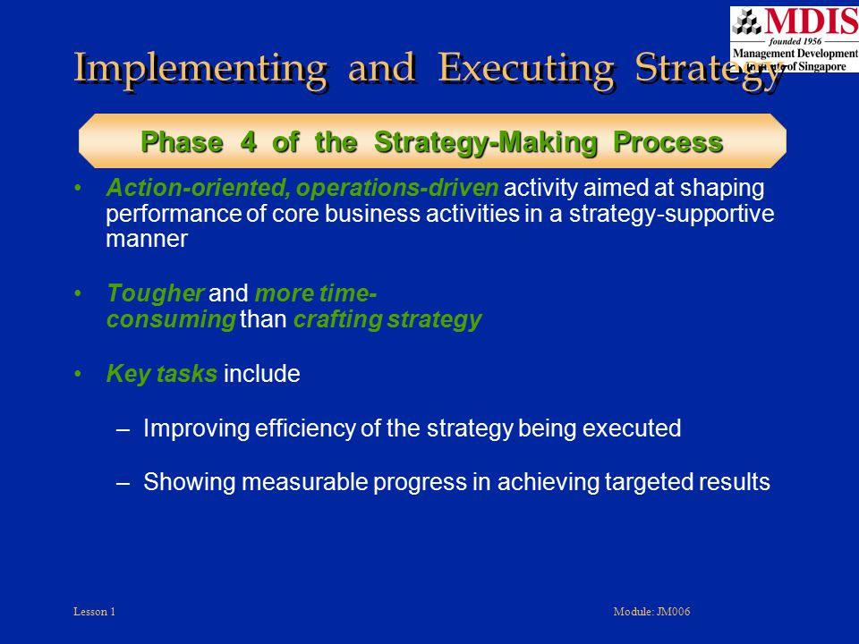 Implementing and Executing Strategy
