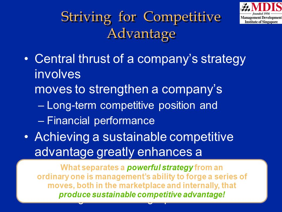 Striving for Competitive Advantage
