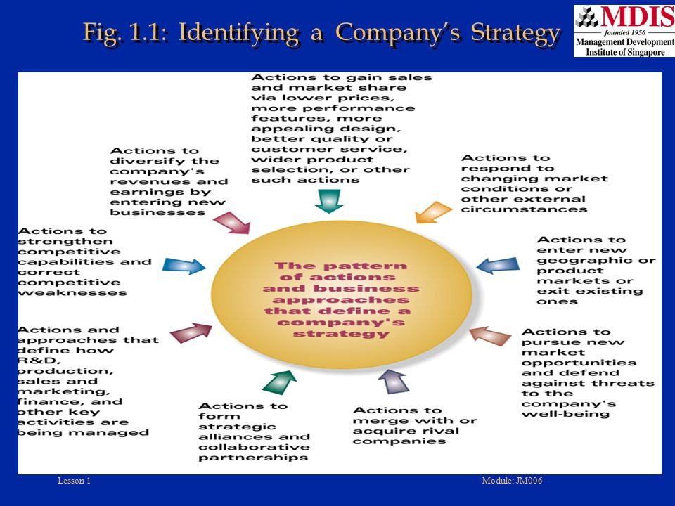 Fig. 1.1: Identifying a Company's Strategy