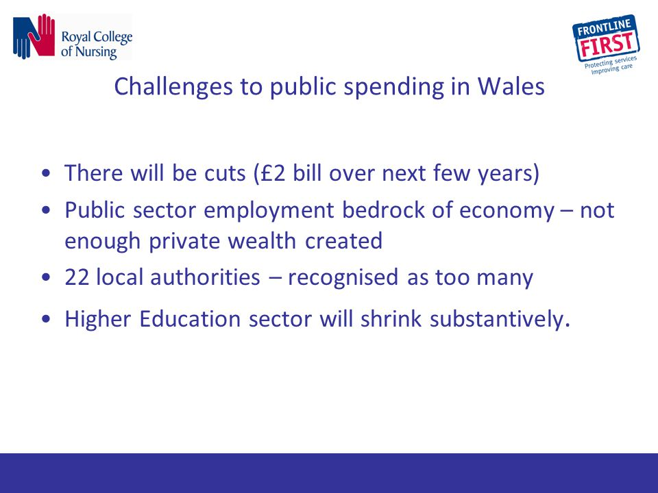 Challenges to public spending in Wales