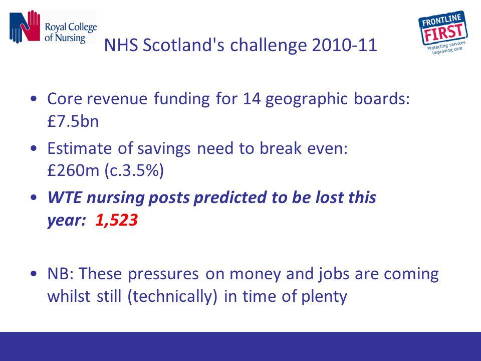 NHS Scotland s challenge 2010-11