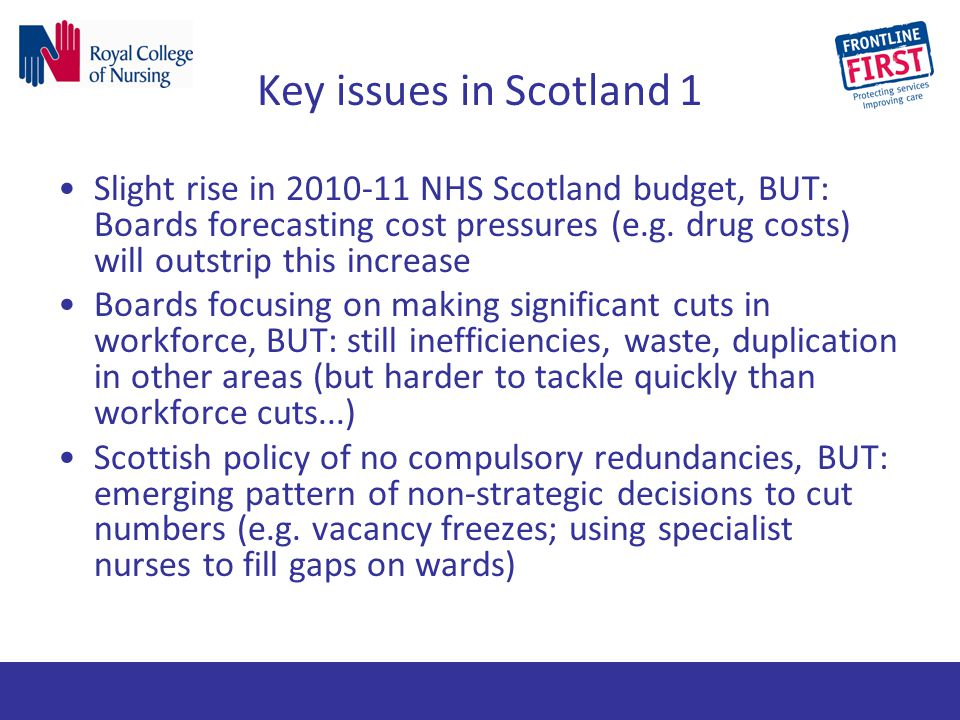 Key issues in Scotland 1