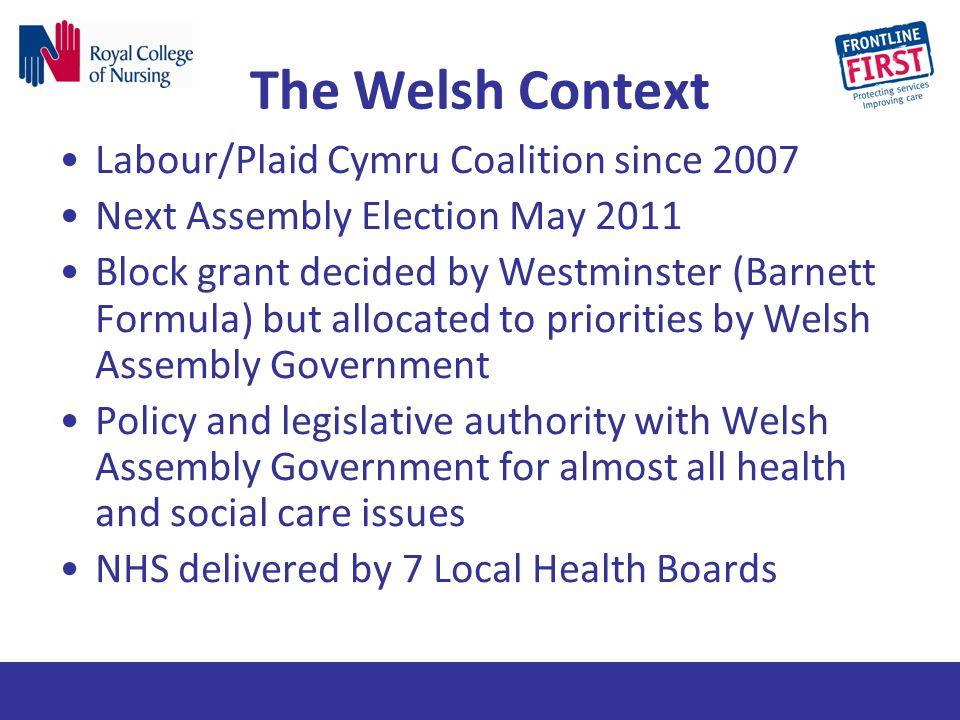 The Welsh Context Labour/Plaid Cymru Coalition since 2007