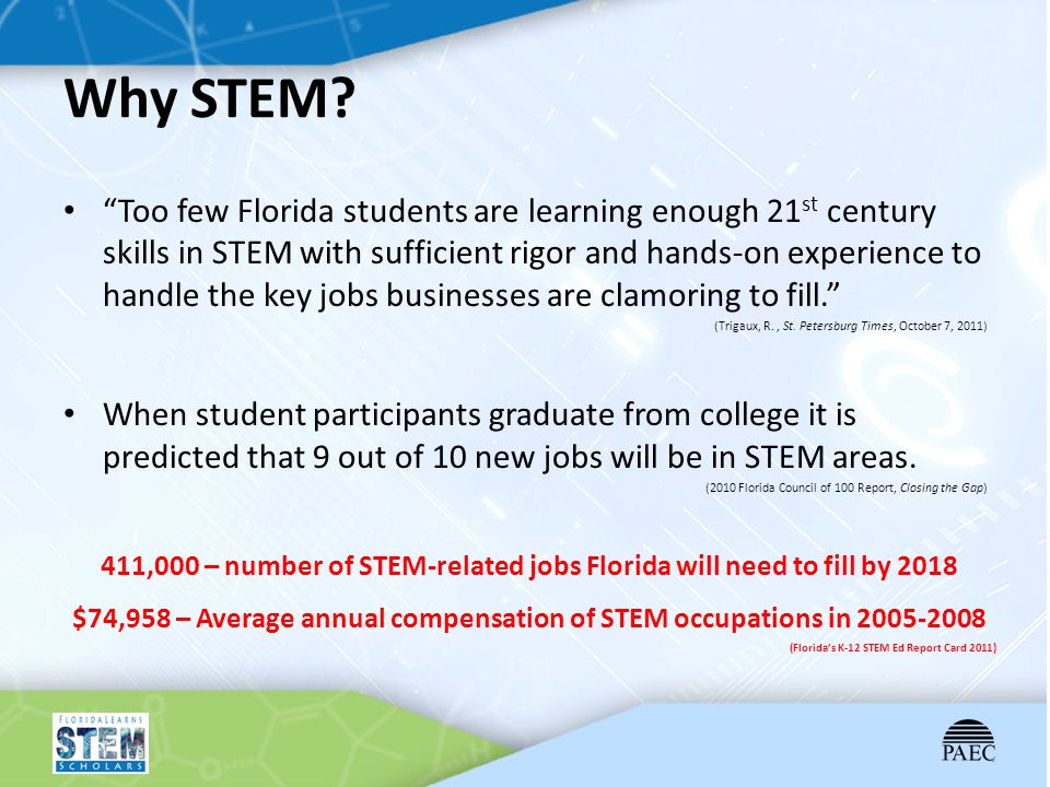 $74,958 – Average annual compensation of STEM occupations in 2005-2008