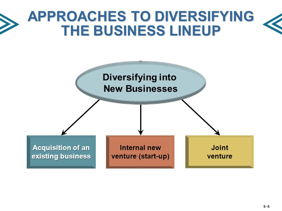 APPROACHES TO DIVERSIFYING THE BUSINESS LINEUP
