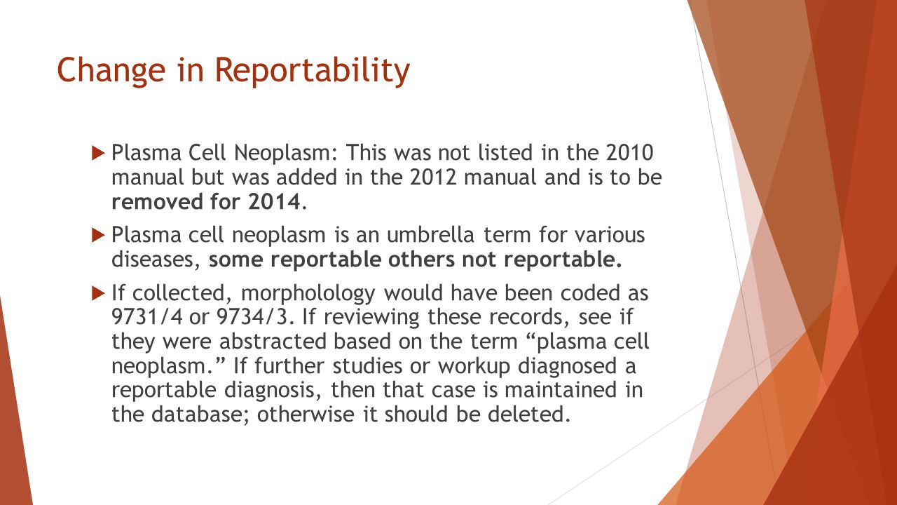 Change in Reportability