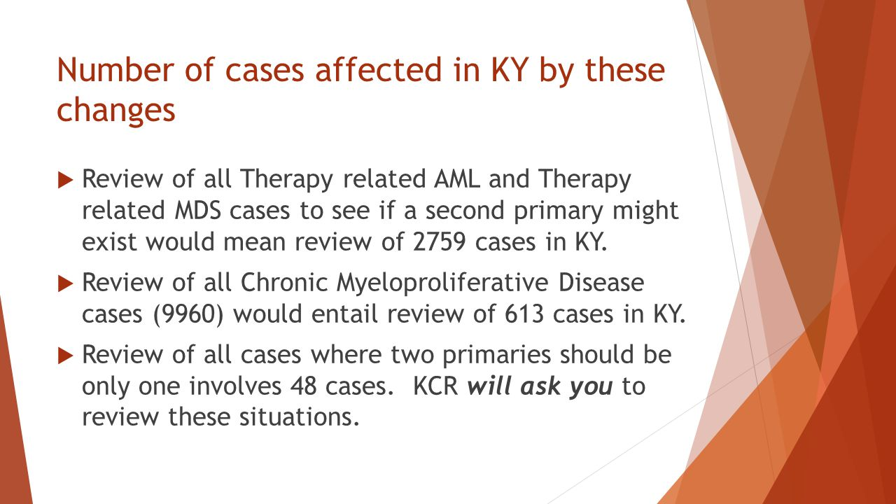 Number of cases affected in KY by these changes