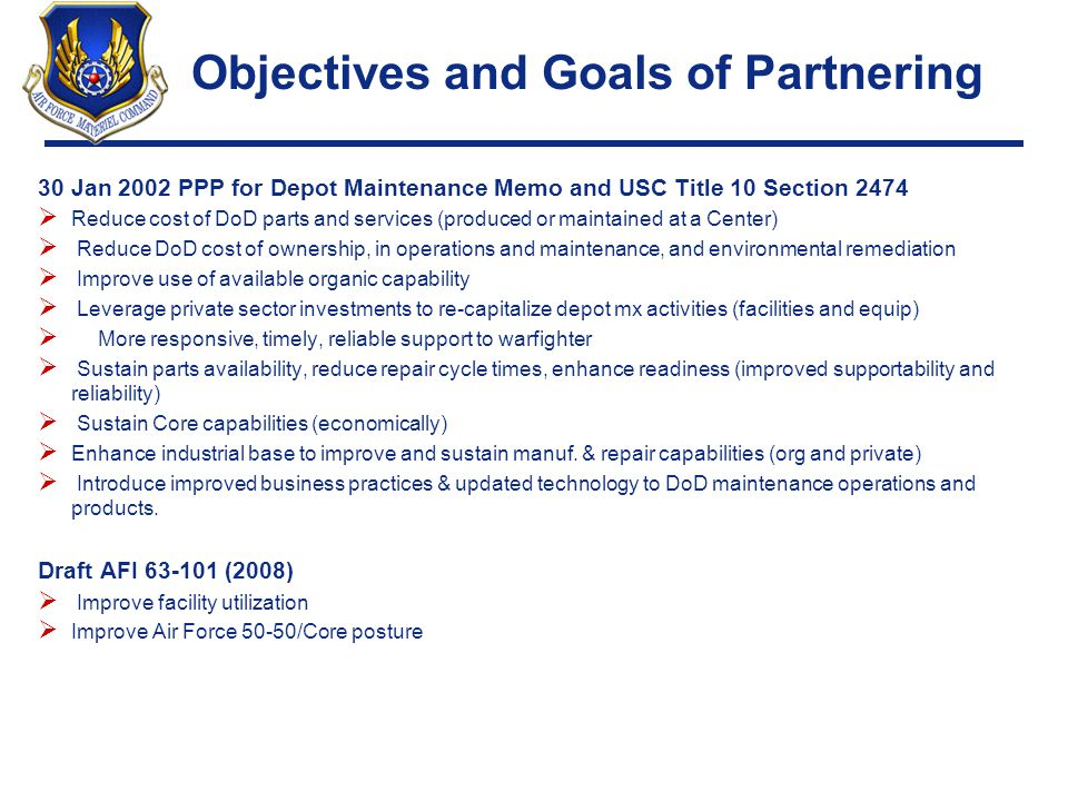 Objectives and Goals of Partnering