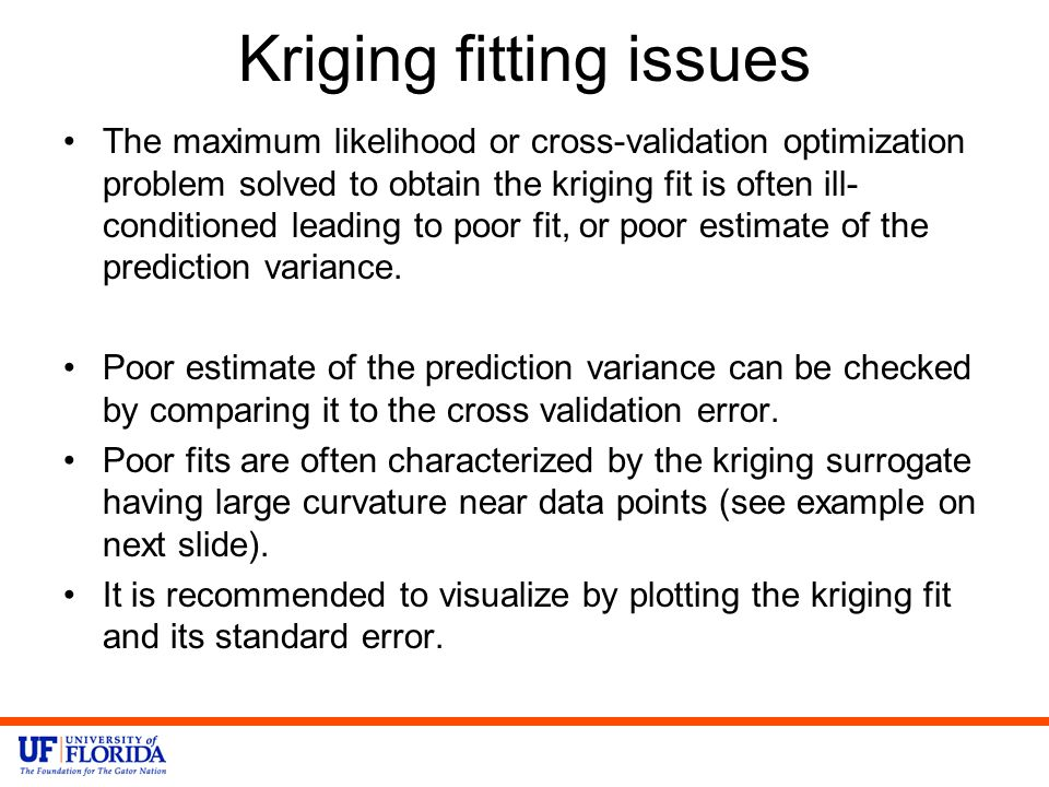 Kriging fitting issues