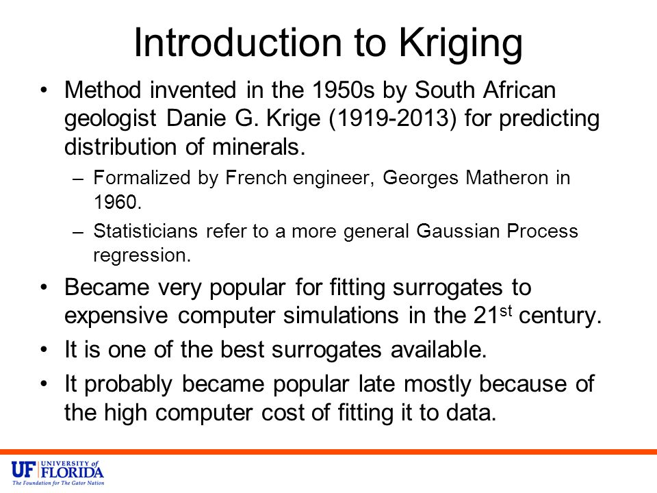 Introduction to Kriging