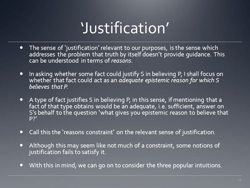 'Justification'