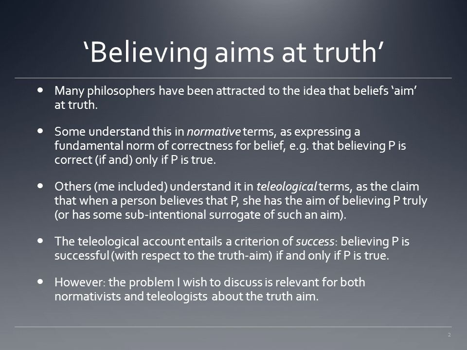 'Believing aims at truth'