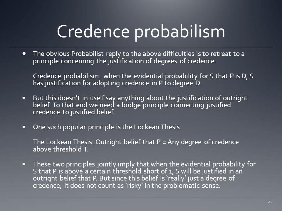 Credence probabilism