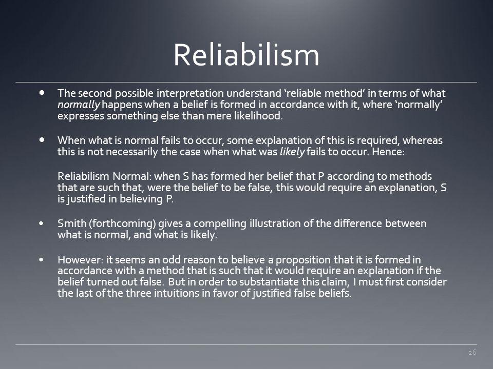 Reliabilism