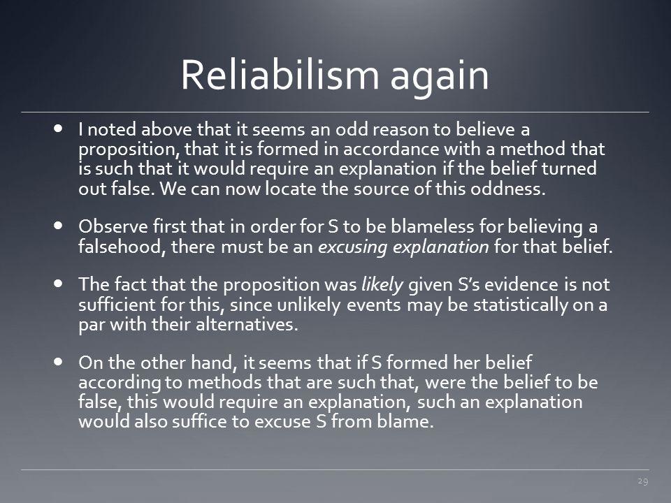 Reliabilism again