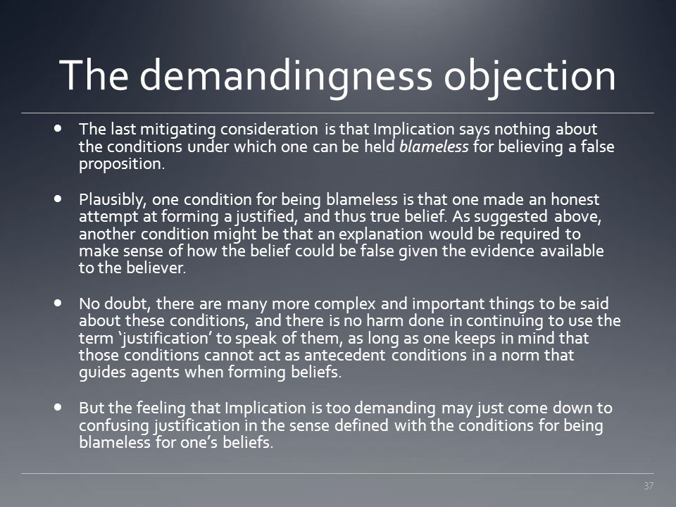 The demandingness objection
