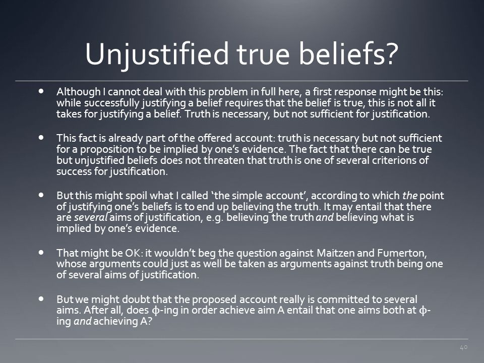 Unjustified true beliefs
