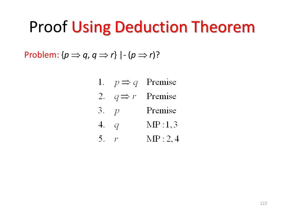 Proof Using Deduction Theorem
